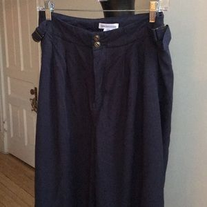 Urban Outfitters high waisted navy trousers